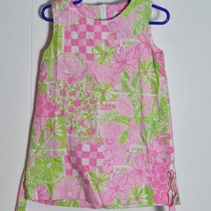 Girl's Lilly Pulitzer Pink & Green Dress sz 4T